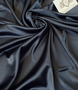 Dark bluish green polyester with elastane satin fabric