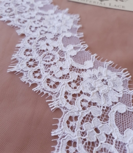 White Guipure Lace Trim French Lace