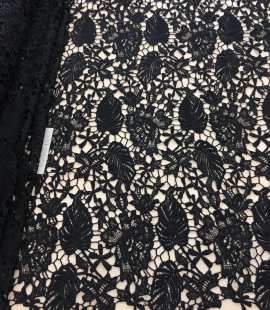 Black lace fabric