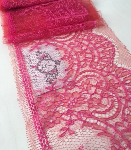 Pink Chantilly lace trim