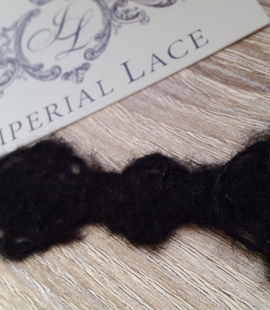 Wool lace trimming black