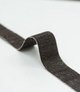Brown elastic wool ribbon