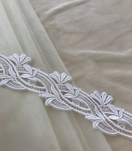 Dark ivory soft English net