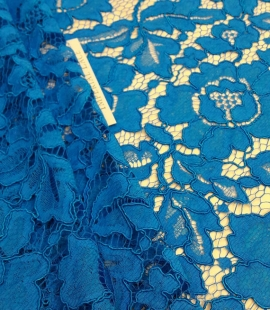 Bright Blue Lace Fabric