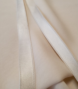 Ivory silk double sided ribbon