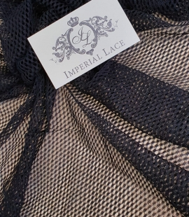 Black net tulle fabric