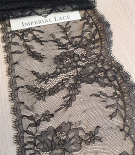 Black chantilly lace trimming