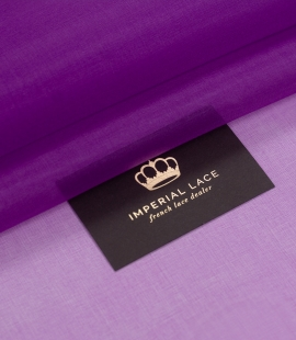 Purple silk organza fabric