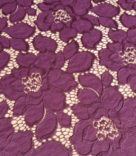Plum lilac lace fabric