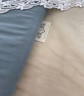Blue-grey tulle fabric