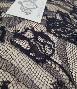 Black lace fabric,