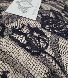 Black lace fabric,