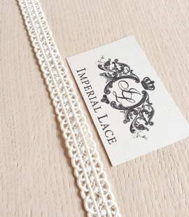 Ivory macrame lace trimming