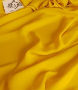 Yellow crepe fabric
