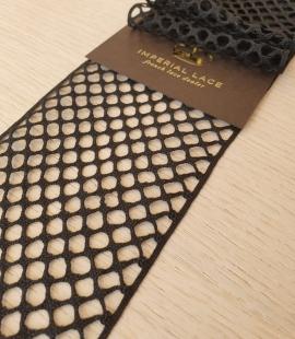 Black cotton mesh macrame lace trimming
