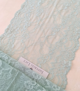 Mint elastic lace trimming