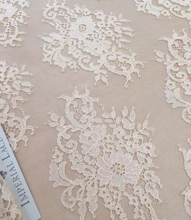 Peach Lace Fabric