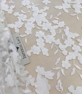 Light ivory lace fabric