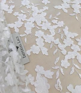 Light ivory lace fabric