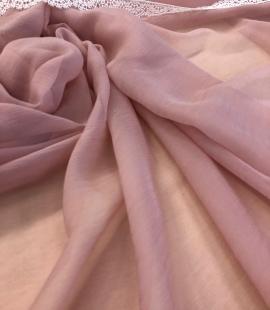 Pink silk chiffon fabric