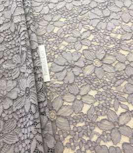 Gray lace fabric