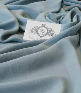 Greenish grey silk crepe fabric