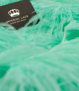 Green mint natural ostrich feather