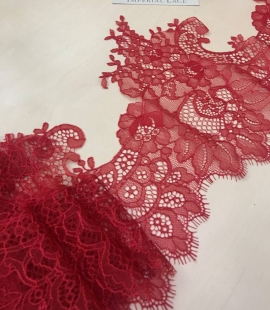 Lace trimming red