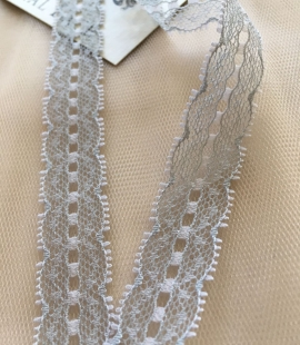 Grey Lace Trim