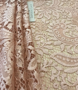 Powder lace fabric