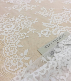 Off-white lace fabric