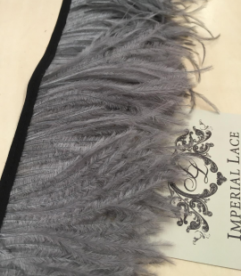 Gray ostrich feathers