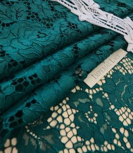 Dark green lace fabric