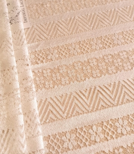 Ivory viscose chantilly lace fabric