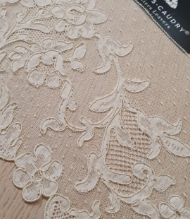 Ivory cotton lyon lace fabric by Jean Bracq