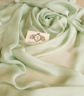 Mint color silk chiffon