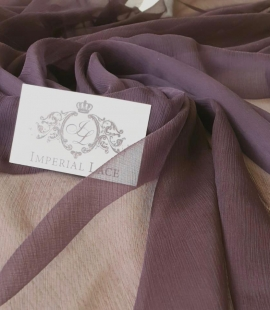 Dark lilac light silk crincle chiffon fabric