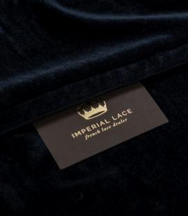 Graphite gray silk velvet fabric