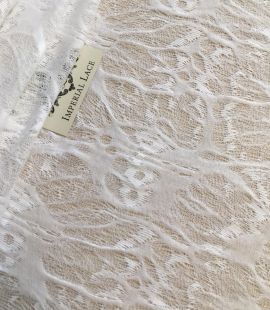 White wool lace fabric