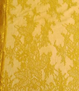 Mustard lace fabric