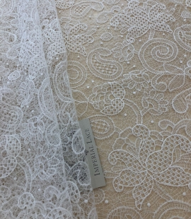 Offwhite macrame lace
