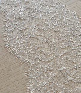 Ivory lace trimming