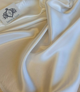 Ivory silk satin fabric