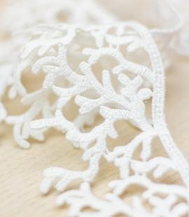 Ivory organic macrame lace trim