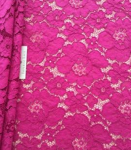 Fuchsia pink lace