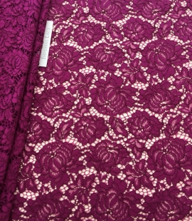 Violet lace fabric