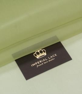 Sage green silk organza fabric