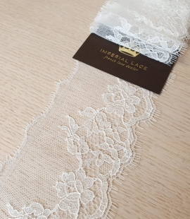 Ivory chantilly cotton lace trimming by Jean Bracq