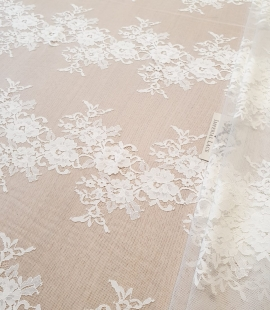 Ivory chantilly lace fabric