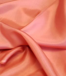 Salmon pink silk lining fabric